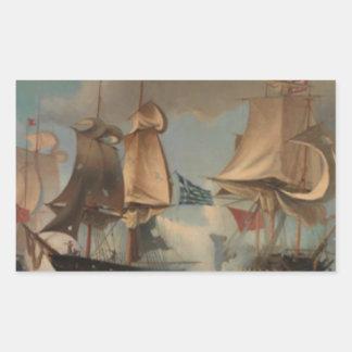 Ioannis Altamouras著海戦い 長方形シール