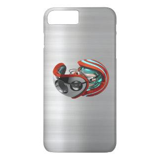 iORBITの赤はクロムプリントのiPhone 7の箱にブラシをかけました iPhone 8 Plus/7 Plusケース