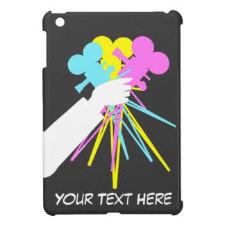 iPadのための映画用カメラのテクニカラー愛花束 iPad Miniケース
