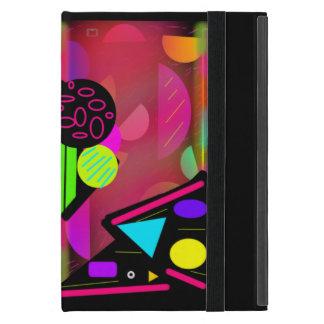 Ipadのネオン宇宙ピンクおよび黒い小型箱 iPad Mini ケース