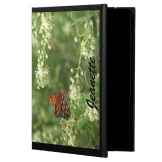 iPadのフォリオの場合、オレンジ蝶、黒の背部