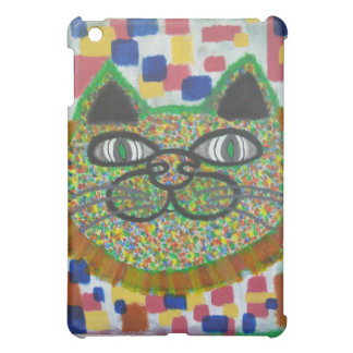 iPadの例のライオンの鬣の芸術の虹猫 iPad Mini カバー