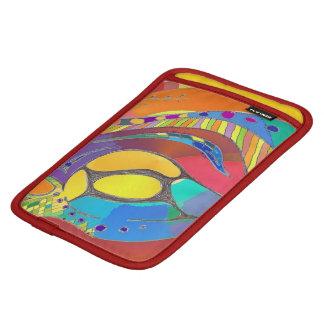 iPadの場合のはっきりしたでオーガニックなデザインの内部赤いトリムの金ゴールド iPad Miniスリーブ