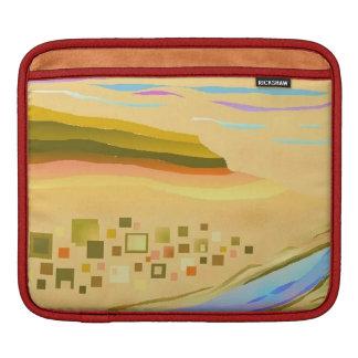 iPadの場合の砂漠1のデザインの赤のトリム iPadスリーブ