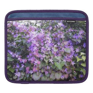 iPadの場合の紫色/藤色の花 iPadスリーブ