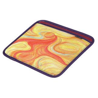 iPadの場合の赤いダンサーのデザイン iPadスリーブ