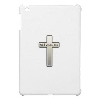 Ipadの場合の銀の十字の神愛 iPad Miniカバー