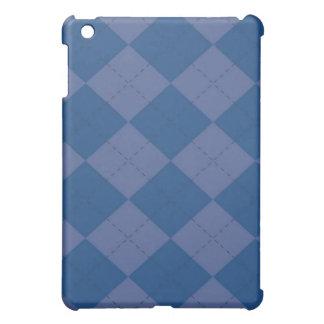 iPadの場合-アーガイル柄のなスクエア-ブルーベリー iPad Miniカバー