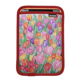 iPadの小型2/3本の柔らかい袖を引いているカラフルなチューリップ iPad Miniスリーブ