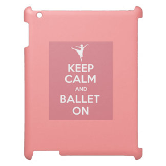 ipadの平静そしてバレエを保って下さい iPadケース