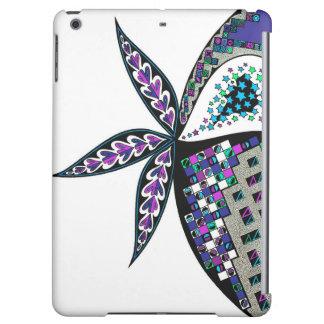 iPadの空気箱の青および緑の抽象デザイン