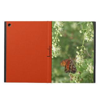 iPadの空気箱、オレンジ蝶、オレンジの背部