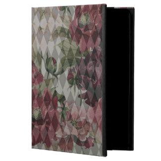 iPadの空気箱-ダイヤモンド及び花模様 iPad Airケース