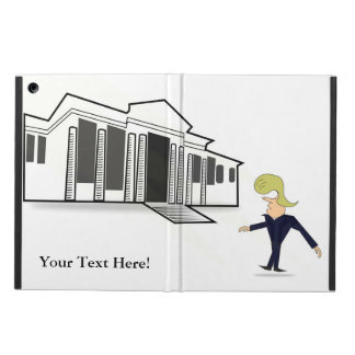 iPadの空気箱-切札の白い家の新しい訪問 iPad Airケース