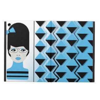 iPadの空気箱-大きい毛のモダンの女の子 iPad Airケース