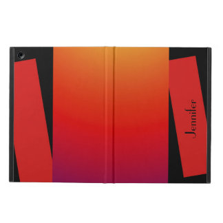 iPadの空気箱、野生色、赤いオレンジ黄色
