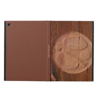 iPadの空気2フォリオの箱、石ブラウンの天使 Powis iPad Air 2 ケース