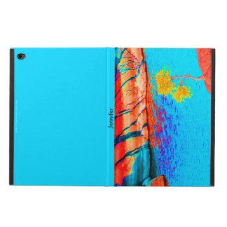 iPadの空気2箱、孤独な木、赤、黄色い青 Powis iPad Air 2 ケース
