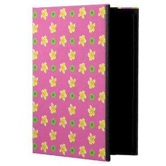 iPadの空気Powisの場合、濃いピンクのサクラソウ iPad Airケース