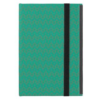 iPadのPowisの小型場合、幾何学的なエメラルドグリーン iPad Mini ケース