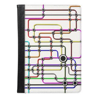 iPadはレトロの多彩で鮮やかなデザインのブロックを包装します iPad Airケース