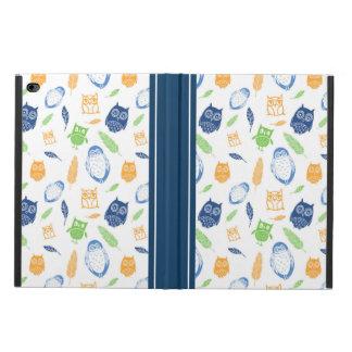 iPadカバーフクロウの羽の濃紺のオレンジ Powis iPad Air 2 ケース
