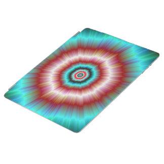 iPadカバー赤および青い爆発ドーナツ iPadスマートカバー