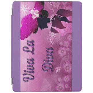 IpadカバーVivaのLaの花型女性歌手のロゴ iPadスマートカバー