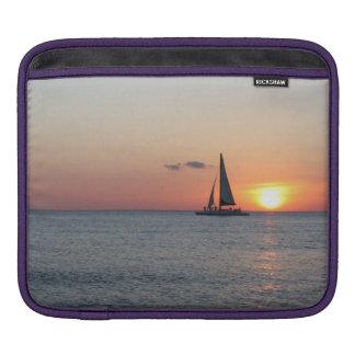 iPad 1、2か3のためのヨットおよび日没のiPadの袖 iPadスリーブ