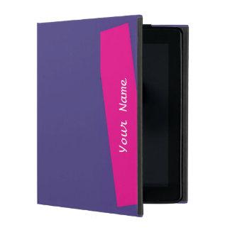 iPad 2/3/4のフォリオの場合の無地のな紫色およびショッキングピンク iPad ケース