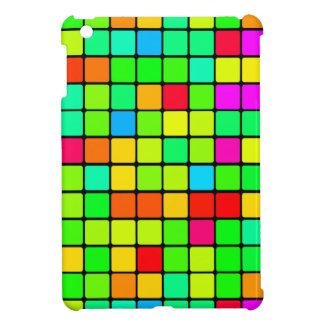iPad Miniか空気レトロの多彩で鮮やかなブロック iPad Mini Case