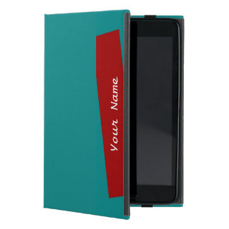 iPad Miniのフォリオの場合の無地のなターコイズか煉瓦ストライプ iPad Mini ケース