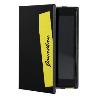 iPad Miniのフォリオの場合、三倍のストライプ、黄色い黒 iPad Mini ケース