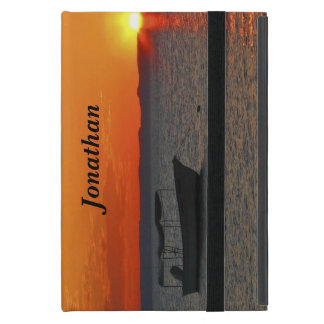 iPad Miniのフォリオの場合、日没の漁船 iPad Mini ケース
