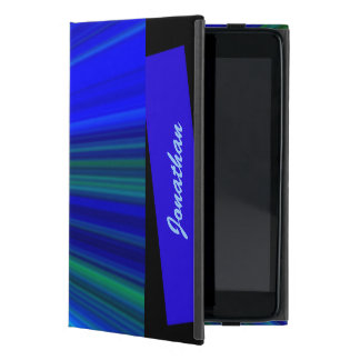 iPad Miniのフォリオの場合、青いスターバスト iPad Mini ケース