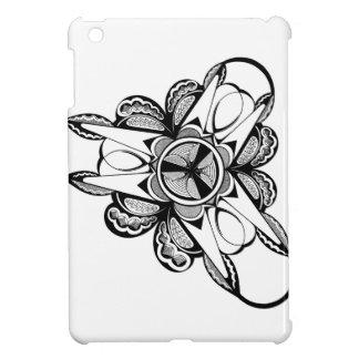 iPad Miniの光沢のある場合の黒く及び白いデザイン iPad Miniケース