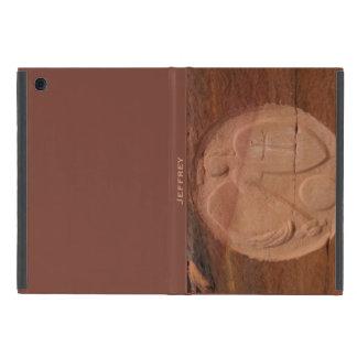 iPad Miniの石のブラウンの背部のフォリオの場合の天使 iPad Mini ケース