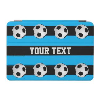 iPad Miniカバー、サッカーボールとの青いストライプの iPad Miniカバー