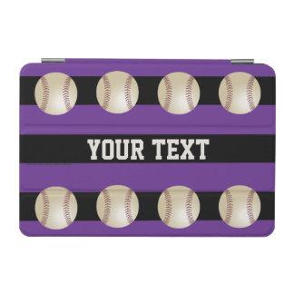 iPad Miniカバー、野球との紫色のストライプの iPad Miniカバー