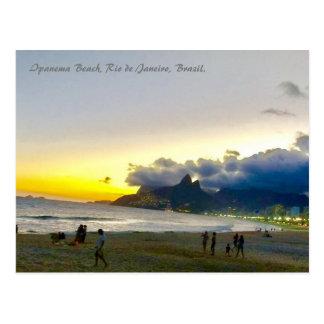 Ipanema Bch、リオ、ブラジルの郵便はがき ポストカード