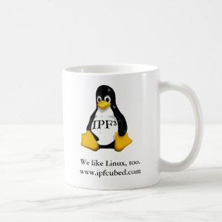 """IPFの³の""""私達はLinux""""のマグ好みます コーヒーマグカップ"""