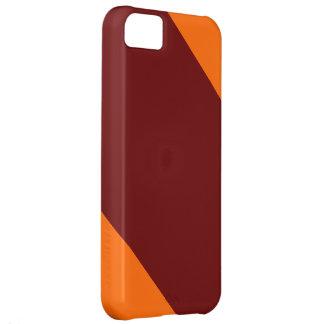 IPhoneあずき色およびオレンジストライプのな5の箱 iPhone5Cケース