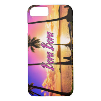 iPhoneかSamsungは包装します: 日没Bora Bora iPhone 8/7ケース