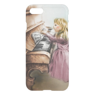iPhoneのヴィンテージの場合-ピアノ女の子 iPhone 8/7 ケース
