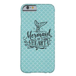Iphoneの例-ハートの人魚 iPhone 6 ベアリーゼアケース