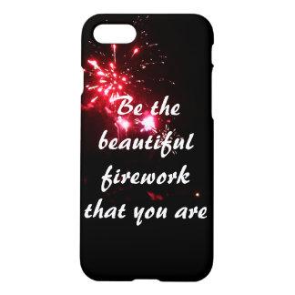 iPhoneの場合であること美しい花火があって下さい iPhone 8/7 ケース
