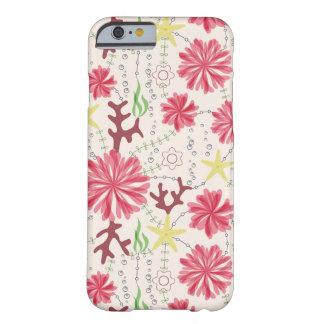 IPhoneの場合の海洋の花 Barely There iPhone 6 ケース