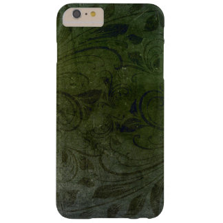 iPhoneの場合の深緑の花のねじれ Barely There iPhone 6 Plus ケース