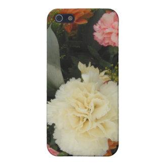 Iphoneの場合4/4のカーネーションの花束 iPhone 5 カバー