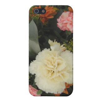 Iphoneの場合4/4のカーネーションの花束 iPhone SE/5/5sケース